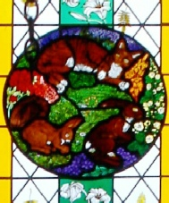 Naturalist Gilbert White window at St Marys Church Selborne Hampshire top